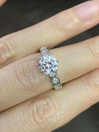 特價斷碼港碼10號  80份高碳鑽戒指 人造鑽戒指