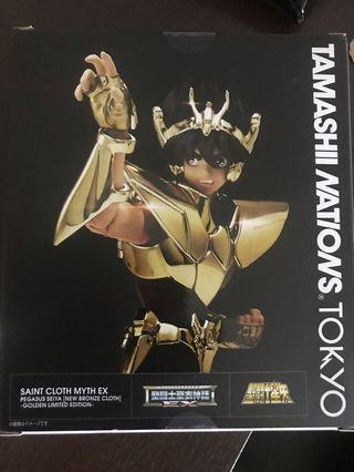 全新日版聖衣神話EX 天馬座 星矢 黃金 Golden Limited Edition 聖鬪士星矢