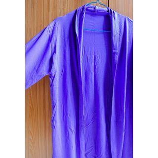 #BAPAU violet long cardigan / luaran / kardigan ungu / purple