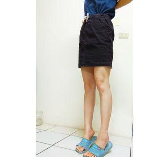 Lativ灰黑色中腰休閒牛仔裙半身裙