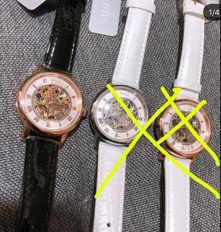 Last one♥️鐵達時女裝玫瑰金漆皮革機械錶,全新原廠正貨
