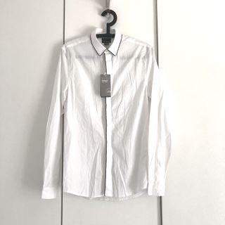 H&m men white dress shirt