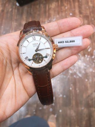 棄單蝕本價出售😞鐵達時自動機械錶,只有一隻,全新兩年保養