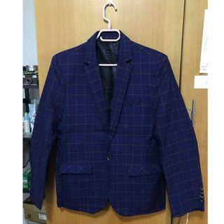 🚚 格子西服 新款 韓版 修身 西裝 青年西裝 顯瘦 一粒單排釦