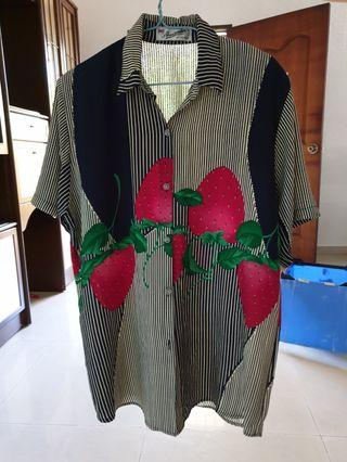 Floral Strawberry Blouse