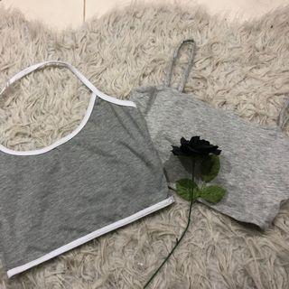 2X grey singlet bundle