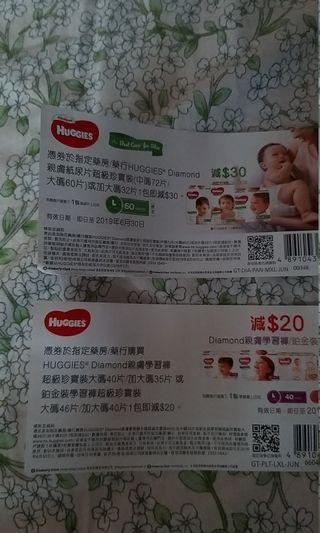 huggies  coupons 包郵