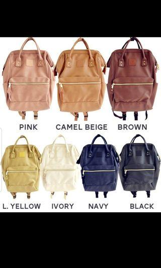 Preorder (inspired gud quality faux leather anello bagpack)