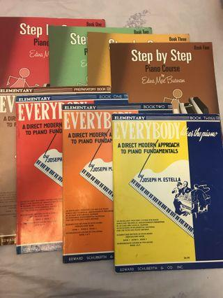 琴譜(Step by step piano course/everybody likes the piano/Michael Aaron piano course)