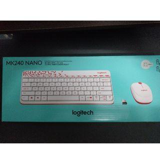 羅技無線 鍵盤+滑鼠 MK240 NANO