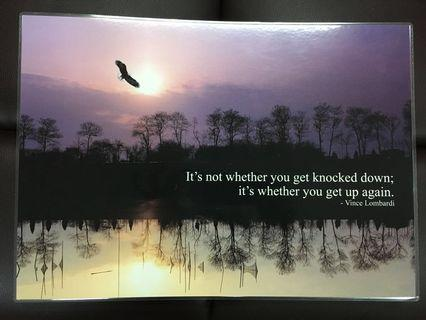 🚚 Inspirational Motivational Posters Nature Scenery Artwork Poems Quotes God A3 size
