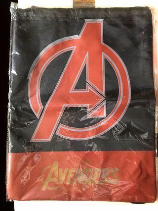 🚚 Marvel 束口背袋、毛巾、A4資料夾