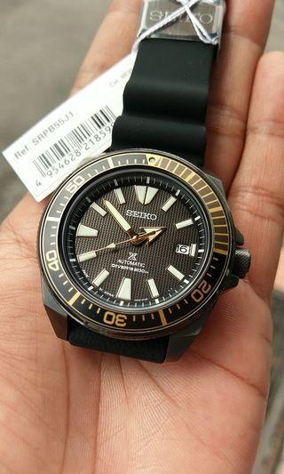 Seiko samurai made in japan black gold prospex divers 200m srpb55j1