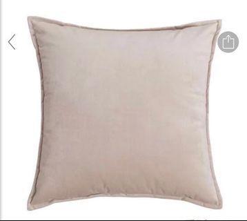 Brand new sateen velvet cream cushion cover