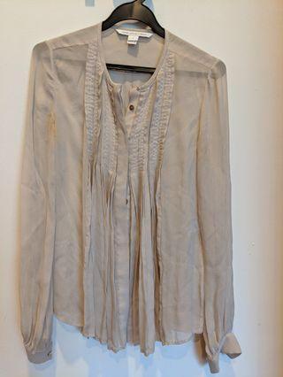 Diane von Furstenberg DvF sheer blouse US 2