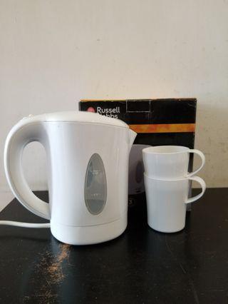二手 0.85公升 雙壓電 120-240v 電水壺 水煲 日本 歐洲 旅行 bb 煮食 奶粉 連杯 歐遊