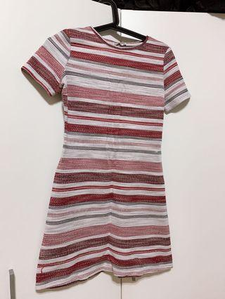 Red & White Stripes Dress