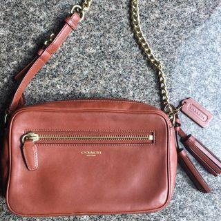 Coach Brown Leather Bag sling and shoulder