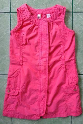 Okaidi zip front pinafore dress