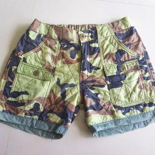 Quilted camo shorts