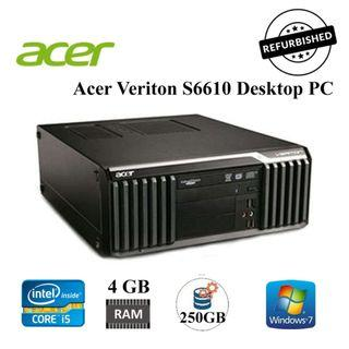 Acer Veriton S6610G Desktop PC - Core i5, 4GB RAM, 250GB HDD, W7P ( Refurbished )