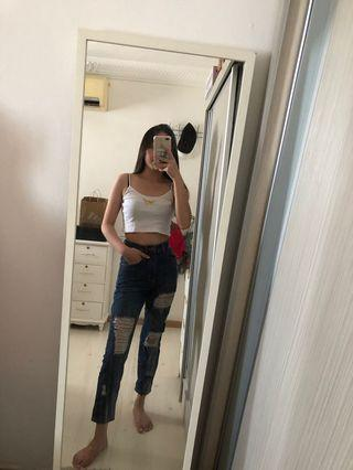 cotton on ripped mom jeans