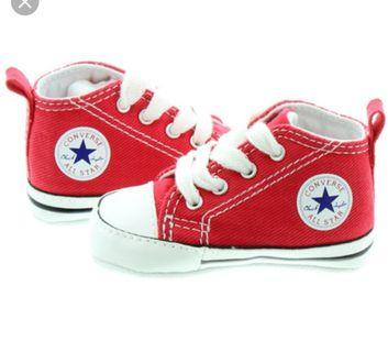 Authentic Converse All Star Baby Red High Tops