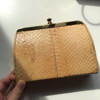 Genuine Vintage Snake Skin Clutch