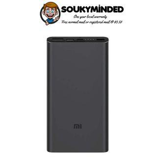 [IN-STOCK] 10000mAh Xiaomi Mi Power Bank Gen 3 Support USB-C Two-way 18W PD and Qualcomm QC3.0 Fast Charge Powerbank - PLM12ZM (Black)