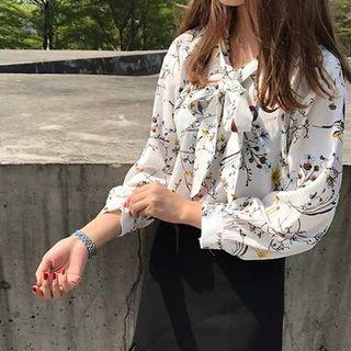 Floral Blouse (White)