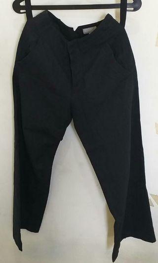 Navy Wide Leg Trousers Margaret Howell