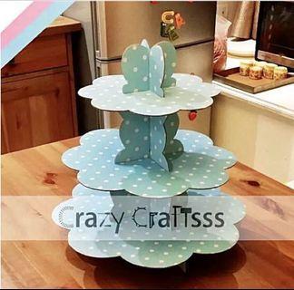 Pastry / Dessert / Cupcake three tier stand