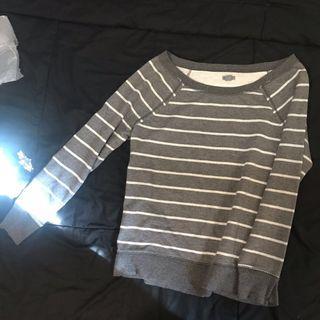 Glitter stripes sweater