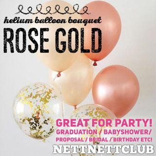 *NEW!* - Lovely Rose Gold Helium Balloon Bouquet 🎈 / Party / Surprise / Graduation / Proposal / Anniversary / Birthday / Gift / Balloons / Wedding Bridal / Baby Shower