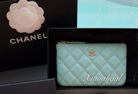 🌟BIDDING🌟 19C Chanel tiffany & co blue cavair quilted ocase wallet clutch pouch gold hardware