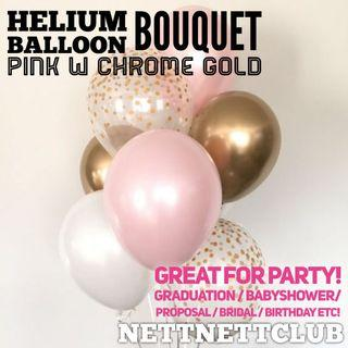 🚚 *NEW!* - Lovely Rose Gold Helium Balloon Bouquet 🎈 / Party / Surprise / Graduation / Proposal / Anniversary / Birthday / Gift / Balloons / Wedding Bridal / Baby Shower!
