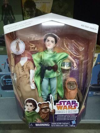 Star Wars Force Of Destiny Princess Leia Organa & Wicket The Ewok