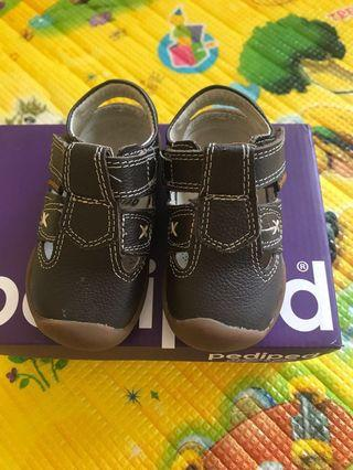 🚚 Pediped Martin Chocolate Brown Shoes Size 19