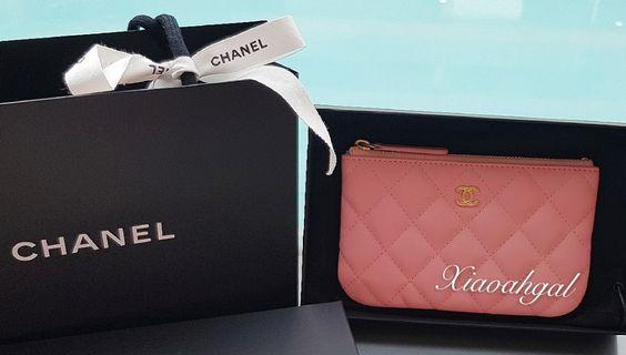 🌟BIDDING🌟 Authentic 19S Chanel pink ocase wallet purse gold hardware