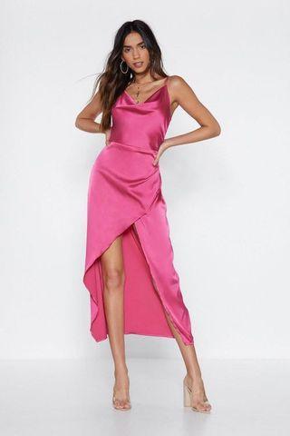 🚚 NASTY GAL 粉紅色洋裝✨🔥現貨💖Satin formal dress