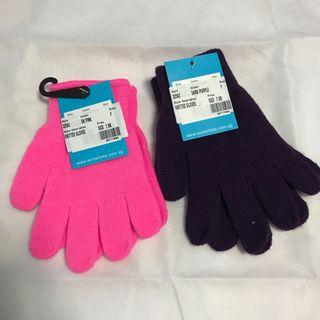Winter time knitted gloves
