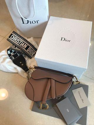 Dior mini saddle +dior strap