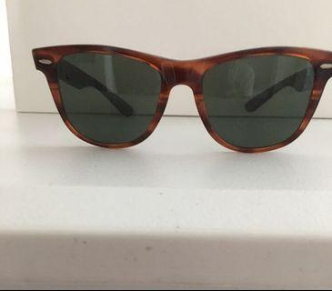 GENUINE B & L Rayban Wayfarer II Tortoise Sunglasses