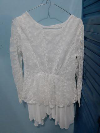 #BAPAU Dress putih