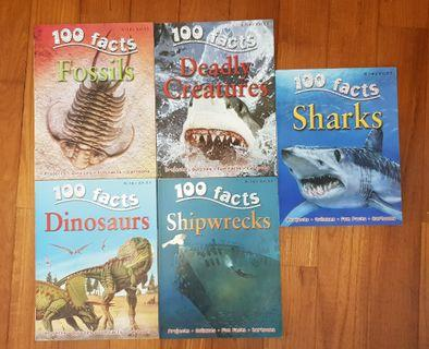 (5 for $15) 100 facts books