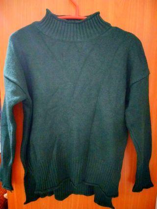 墨綠/黑毛衣