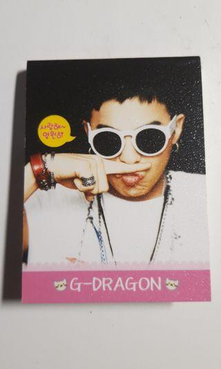 G-Dragon Mini Notepad
