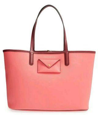 marc jacobs tote bag - peach pink (excellent condition)