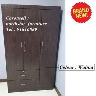 3 Door Wardrobe Cabinet