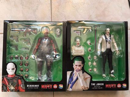 Mafex Deadshot and Joker White Suit